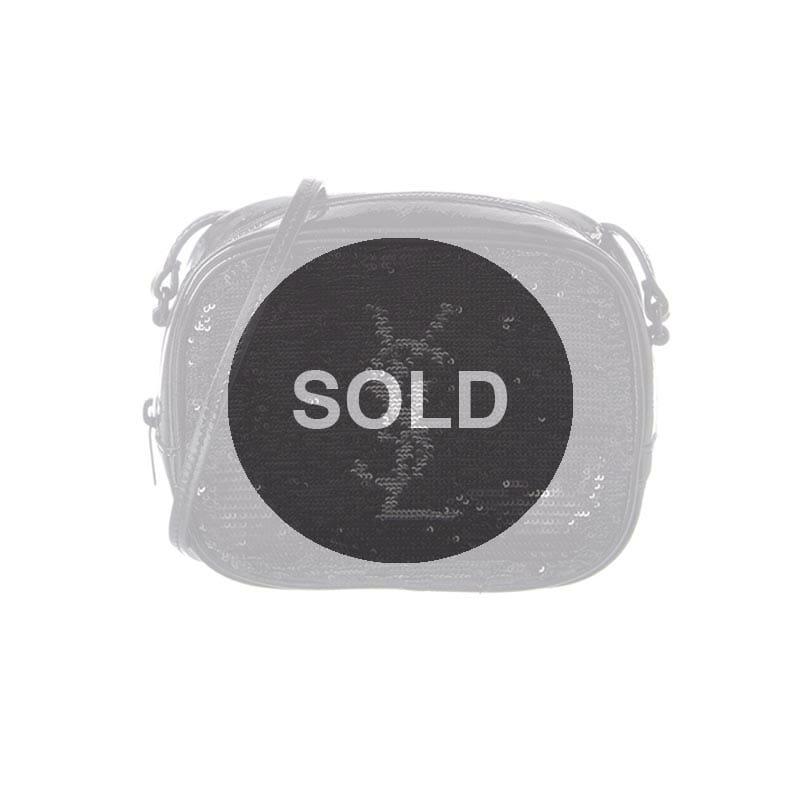 e789ed686180 Saint Laurent Sequin Blogger Bag - Black   Silver - Handbagholic