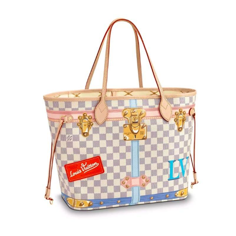 Louis Vuitton Summer Trunk Damier Azur Neverfull MM - Handbagholic 6480e73a6892d