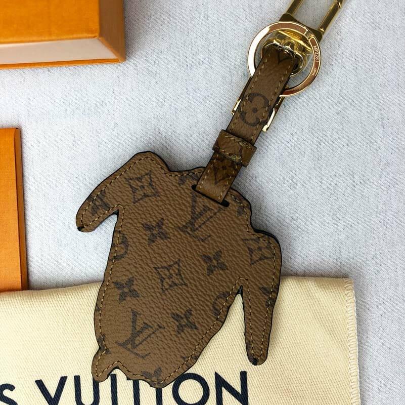 dbbc8aa39fe6 Louis Vuitton Grace Coddington Catogram Dog Bag Charm - Handbagholic