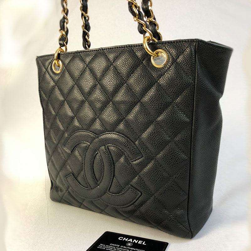 817c4d1d6 Chanel Authentic PST Black Bag with Gold Hardware for Sale UK Second Hand  Discount