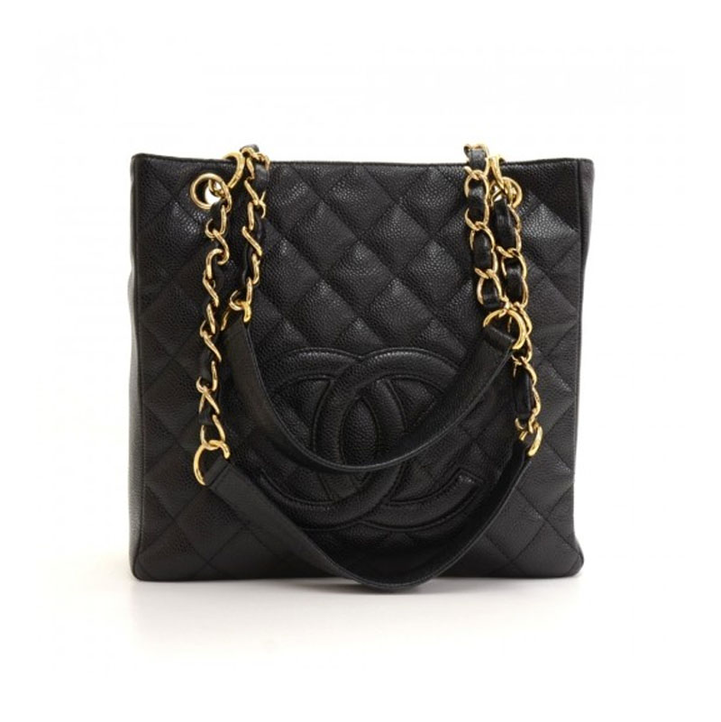 73cdb8f21 Chanel PST in Black Caviar Leather with Gold Hardware - Handbagholic