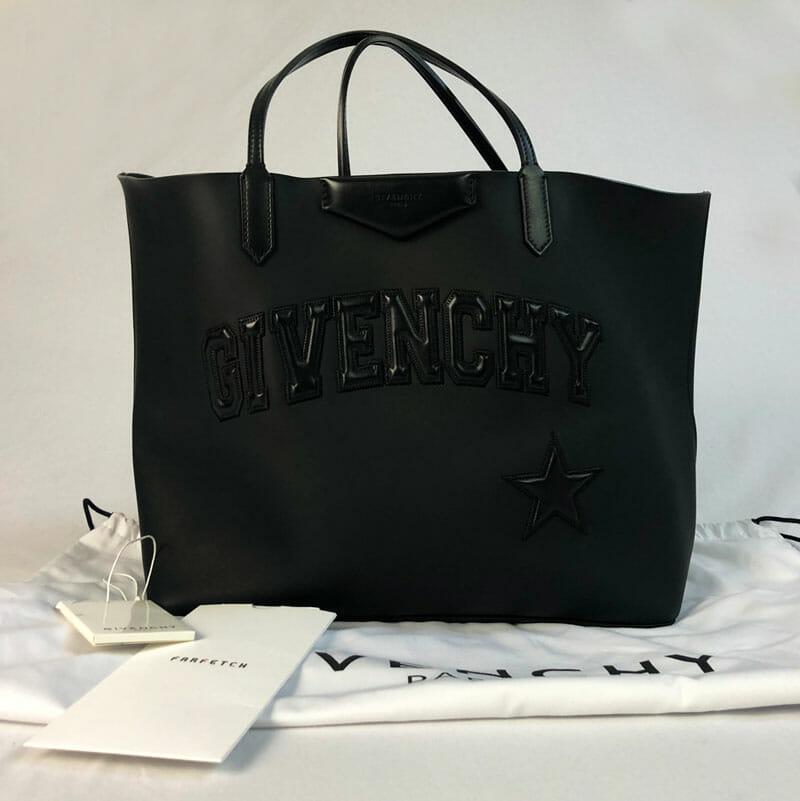 Givenchy Antigona Black Logo Shopper Tote Bag - Large - Handbagholic 30be701cb2