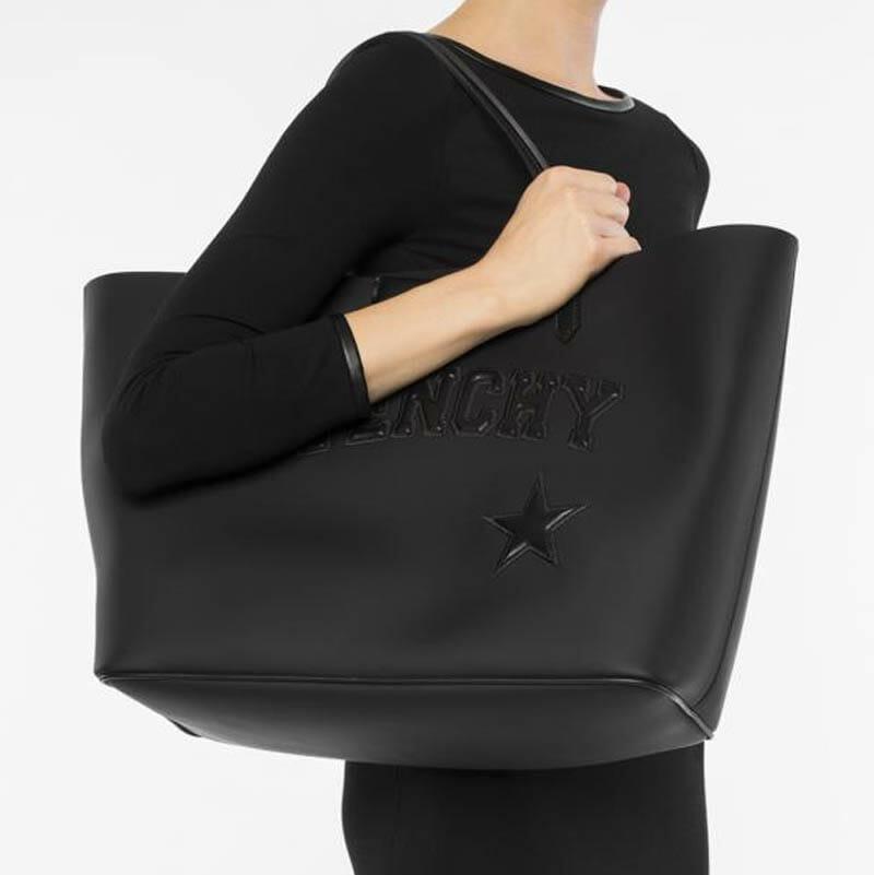 Givenchy Antigona Black Logo Shopper Tote Bag - Large - Handbagholic 7b494a5754164