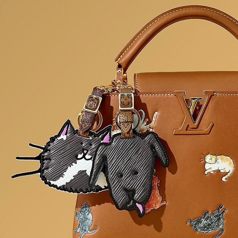 6f652557c271 Louis Vuitton Grace Coddington Catogram Cat Bag Charm - Handbagholic