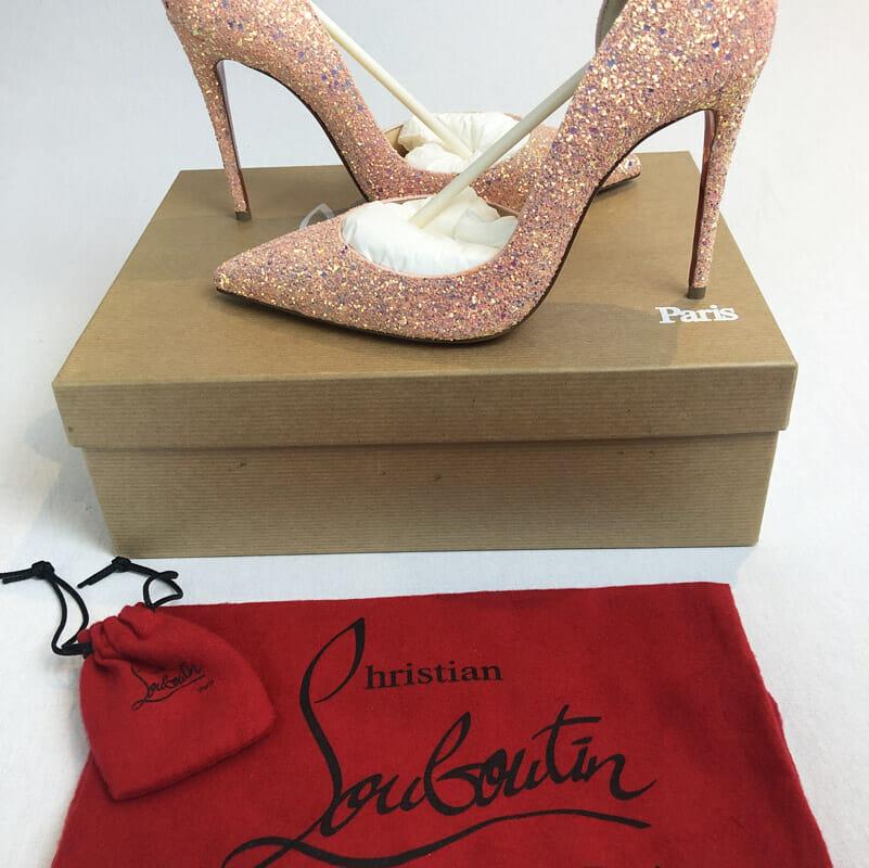 Handbagholic - Christian Louboutin Iriza glitter dragonfly pompadour high  heels 37.5 uk 5 36c9cc667