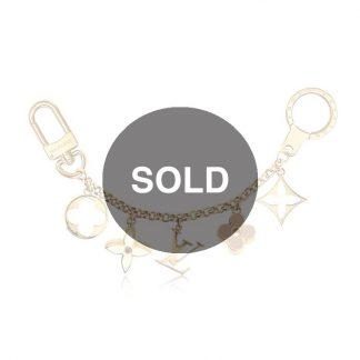 d703d85ec969 Louis Vuitton Fleur De Monogram Bag Charm Chain – Gold