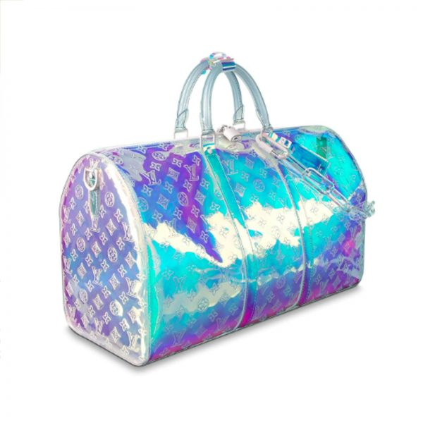 Louis vuitton prism limited edition iridescent keepall 50 virgil handbagholic