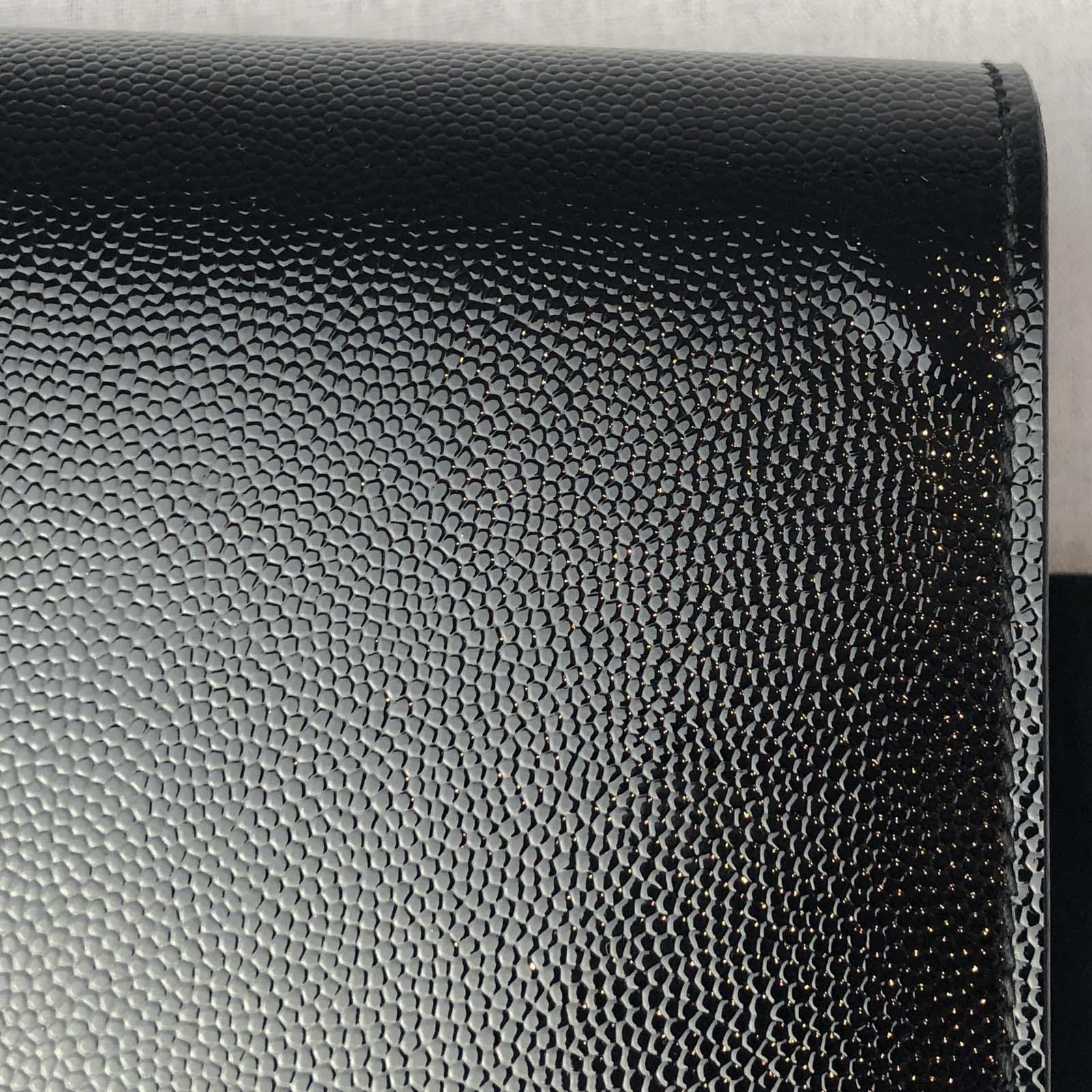 9c99b58316e7e Saint Laurent YSL Black Cassandre Kate Clutch Bag - Handbagholic