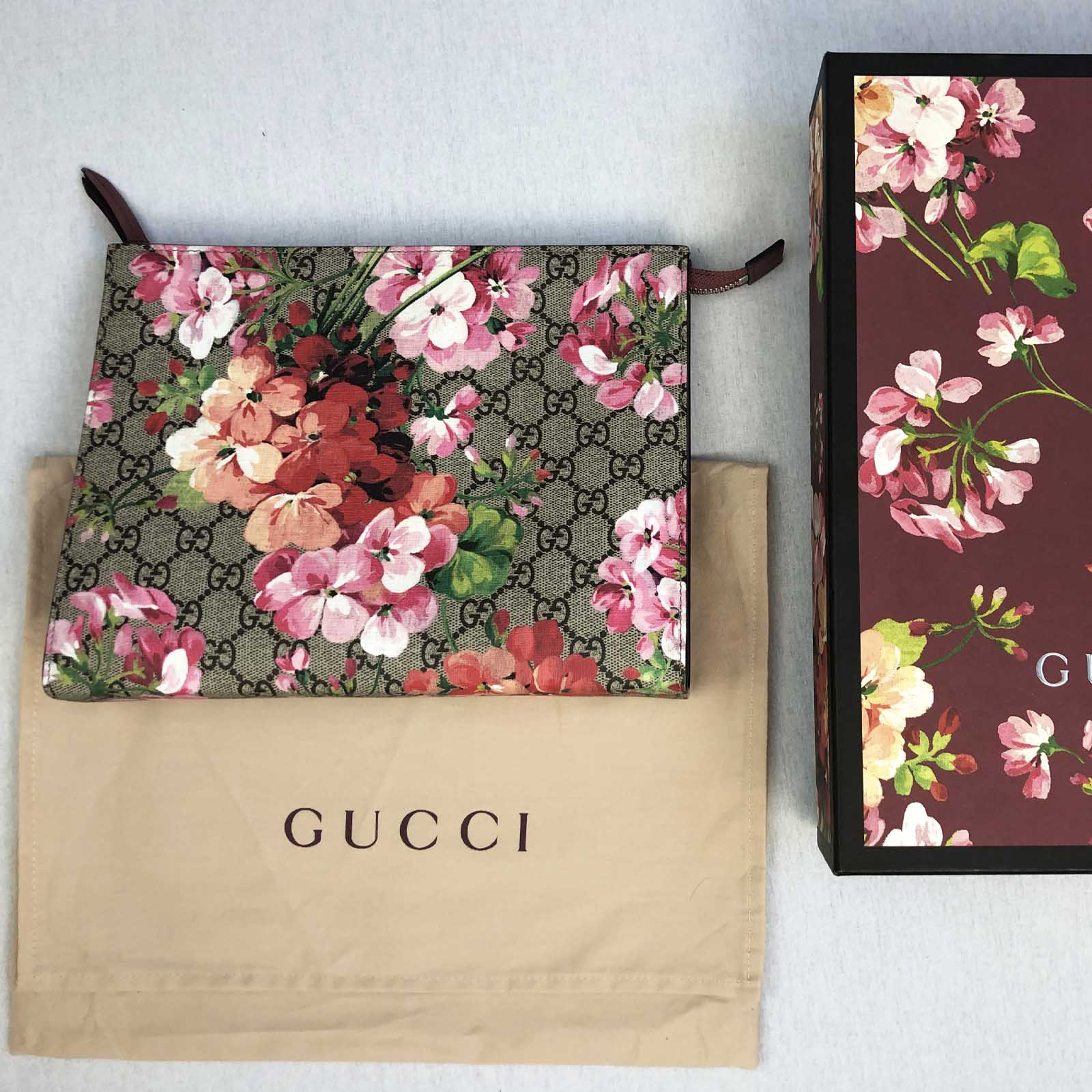 0ad41224 Gucci Blooms Large Cosmetic Pouch / Clutch Bag - Pink Bloom
