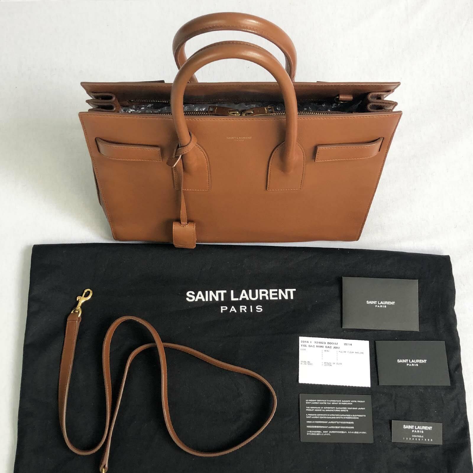 9c9b582274c Small Saint Laurent Sac De Jour - Oak / Brown - Handbagholic