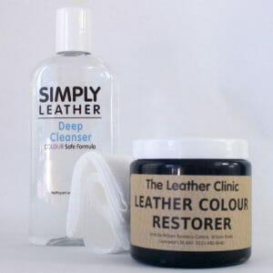 Designer handbag leather and colour reviver restorer and cleanser