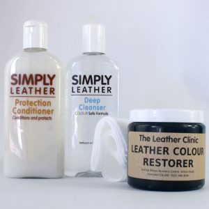 Leather Renovation Repair Kit inc. Colour Restorer, Cleaner & Conditioner for designer handbags
