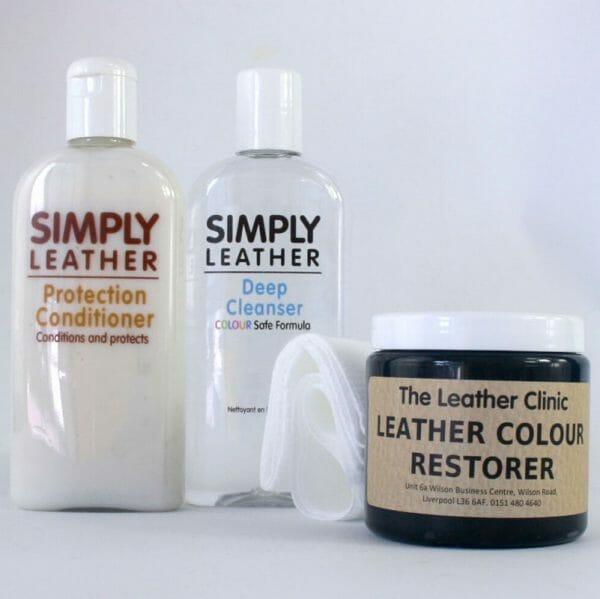 Leather Renovation Repair Kit inc. Colour Restorer, Cleaner & Conditioner for designer handbags