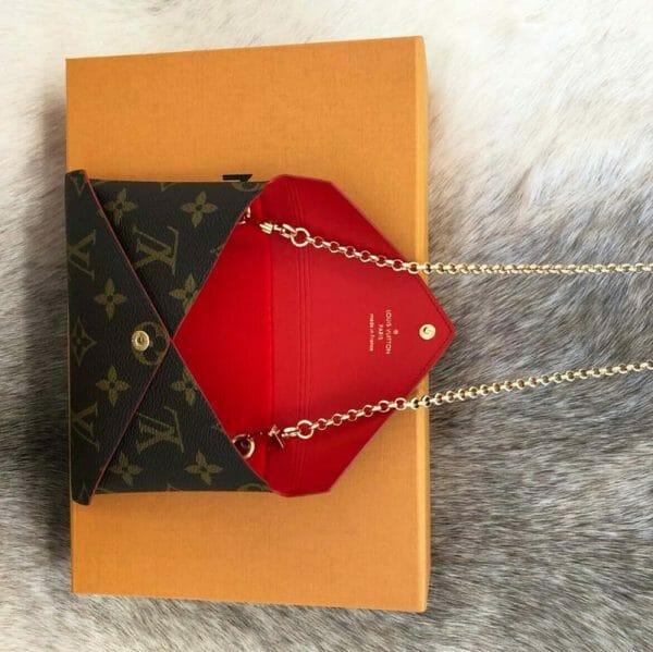 Louis Vuitton Kirigami Medium Pouch Set Handbag Liner Conversion Kit Make Into Shoulder Bag Handbagholic red