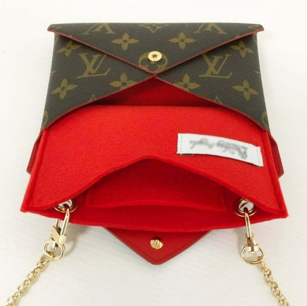 Louis Vuitton Kirigami Medium Pouch Set Handbag Liner Conversion Kit Make Into Shoulder Bag Handbagholic with chain