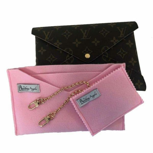 Louis Vuitton Kirigami Pouch Set Pink Handbag Liner Conversion Kit Make Into Shoulder Bag Handbagholic
