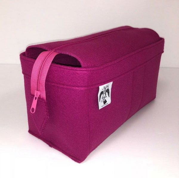 Louis Vuitton pink zipped Neverfull MM Handbag Liner for Designer Handbag Handbagholic