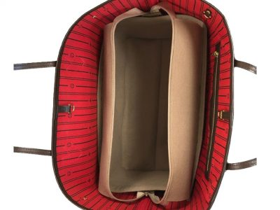 Louis Vuitton zipped Neverfull GM Handbag Liner for Designer Handbag Handbagholic
