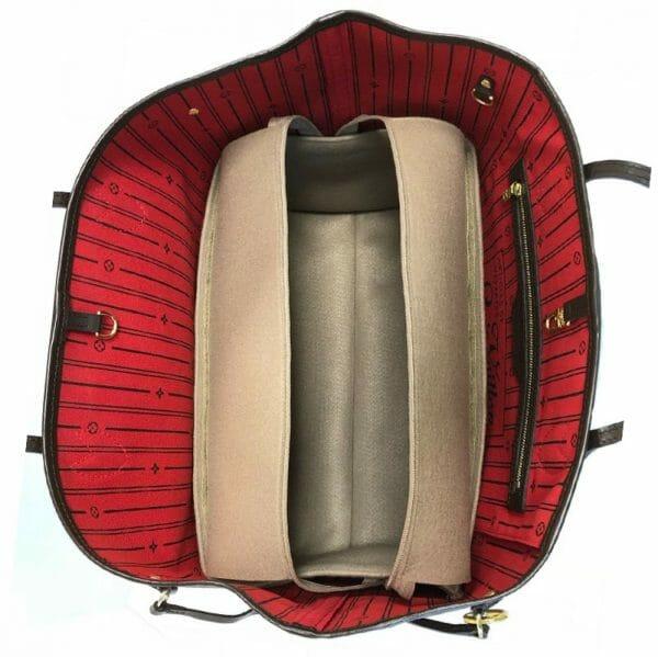 Louis Vuitton zipped Neverfull MM Handbag Liner for Designer Handbag Handbagholic