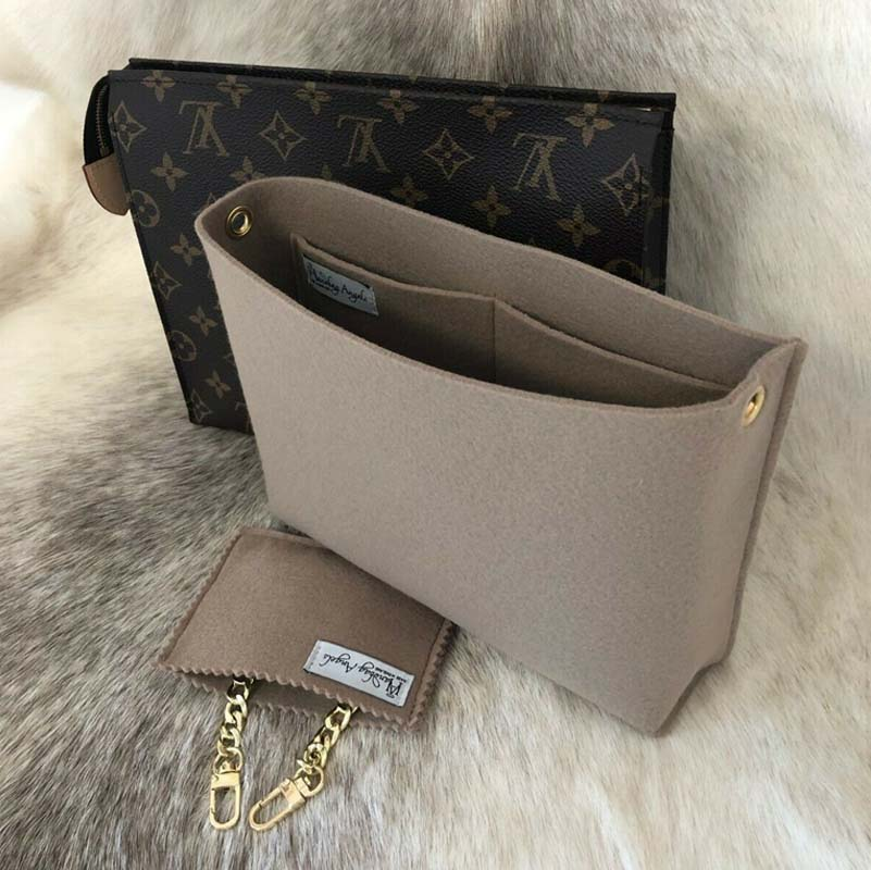 56e2b938588 Louis Vuitton Toiletry Pouch 26 Conversion Kit to Shoulder Bag with Chain  Handbag Liner