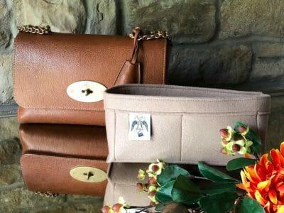 mulberry medium lily beige nude luxury handbag liner organiser protect lining
