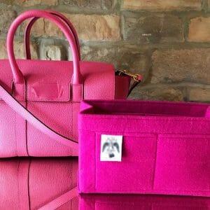 Mulberry Amberley Satchel pink handbag Liner for Designer Handbags Handbagholic