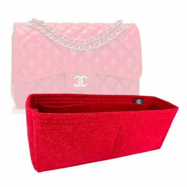 Chanel Classic Flap Jumbo Bag handbag liner protector organiser insert handbagholic Zoomoni