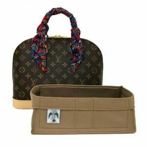 Louis Vuitton Alma PM luxury felt designer handbag liner organiser uk