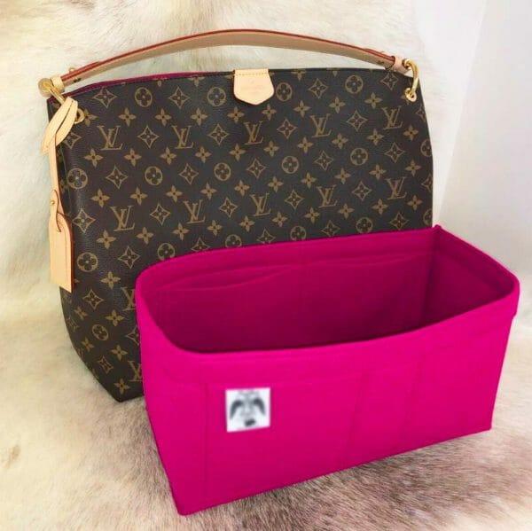 Louis Vuitton Graceful MM handbag liner protector organiser insert handbagholic