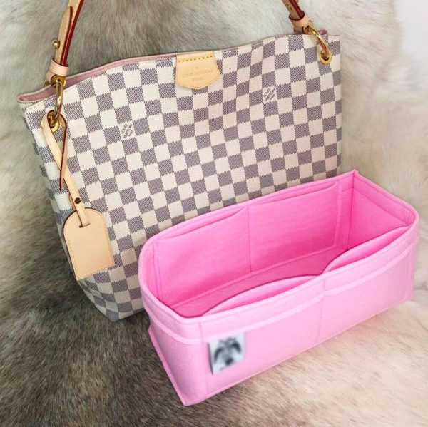 Louis Vuitton Graceful PM handbag liner protector organiser insert handbagholic