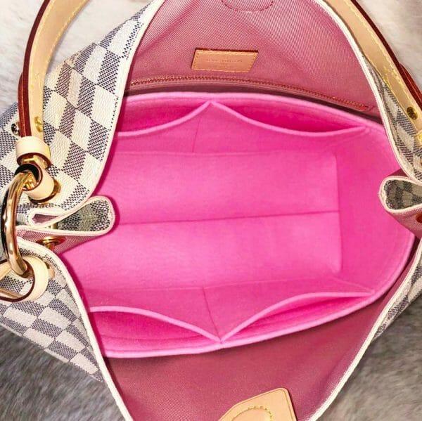 Louis Vuitton Graceful PM handbag liner protector organiser insert handbagholic light pink