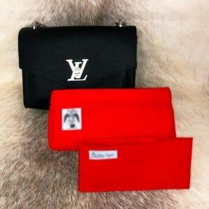 Louis Vuitton lock me BB handbag liner insert organiser red