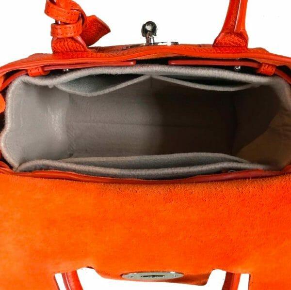 Classic Mulberry small bayswater handbag liner insert organiser made from felt handbagholic inside bag