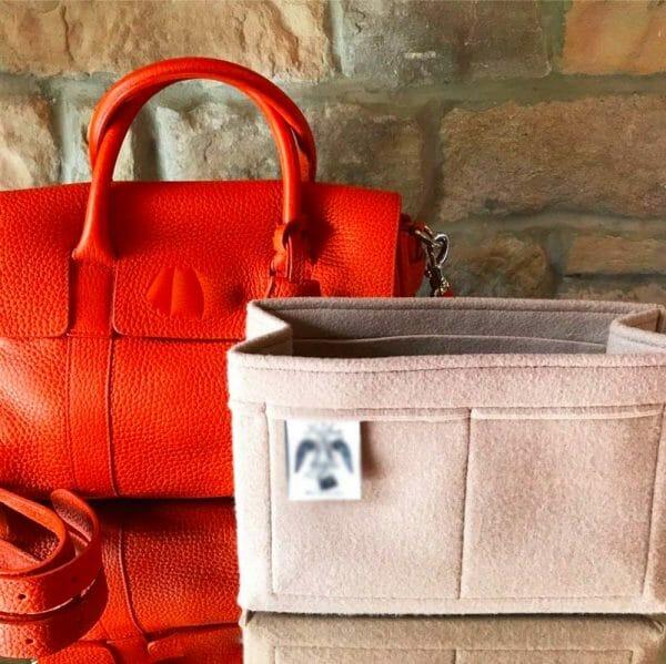 Classic Mulberry small bayswater handbag liner insert organiser made from felt handbagholic organse