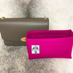 Mulberry Darley Bag Liner Insert Organiser pink