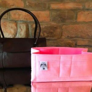 Mulberry East West Bayswater Handbag Liner Insert Organiser pink