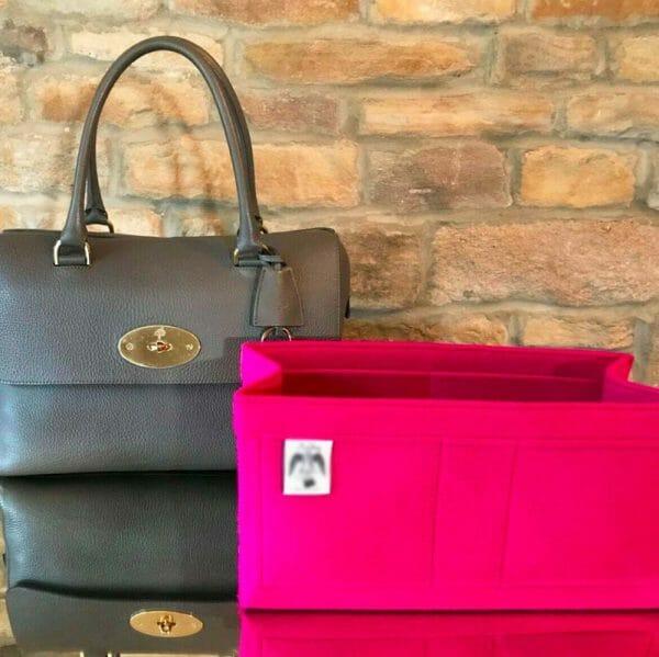 Mulberry Lana Del Rey Handbag Liner Insert Organiser pink