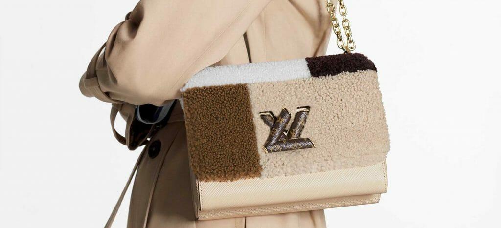 Louis Vuitton Twist MM Shearling Teddy Bag Handbagholic