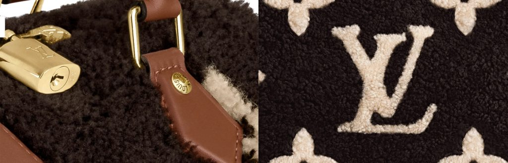 Louis Vuitton Teddy Collection Shearling and Lock Detail Speedy + OnTheGo Tote Bag Handbagholic
