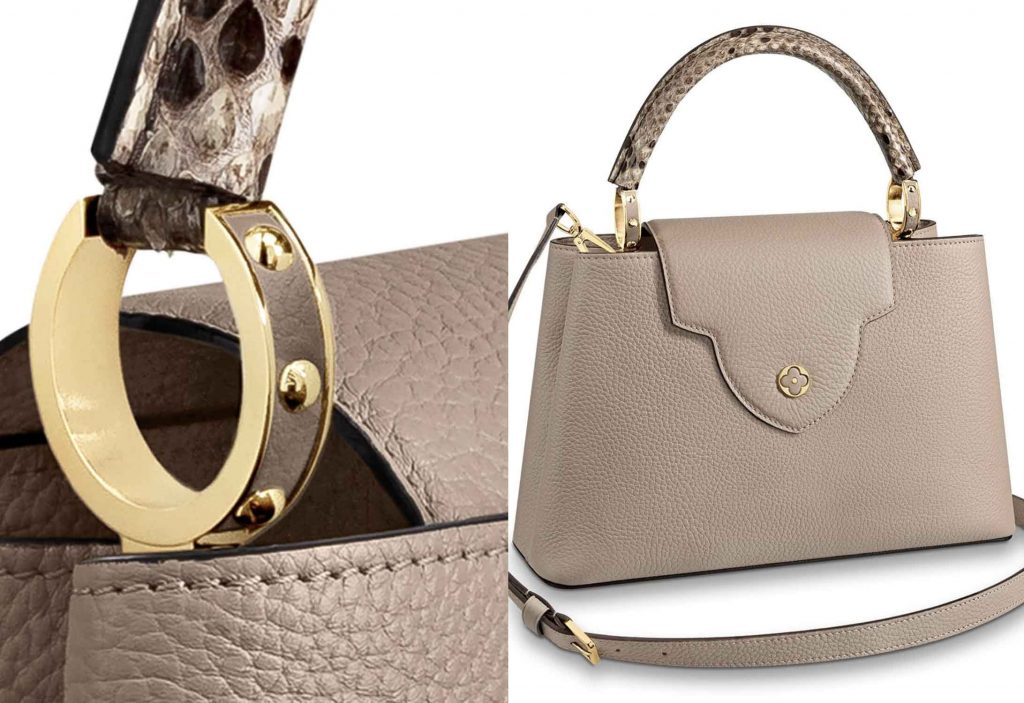 Louis Vuitton Capucines Galet Gold Hardware and Flap