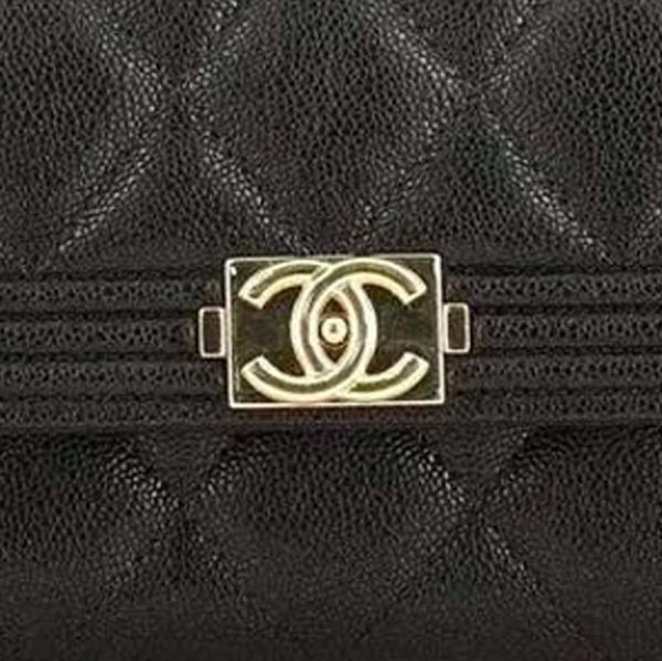 Chanel BOY Flap Wallet Hardware CC Clear Protectors to Stop Scratches handbagholic