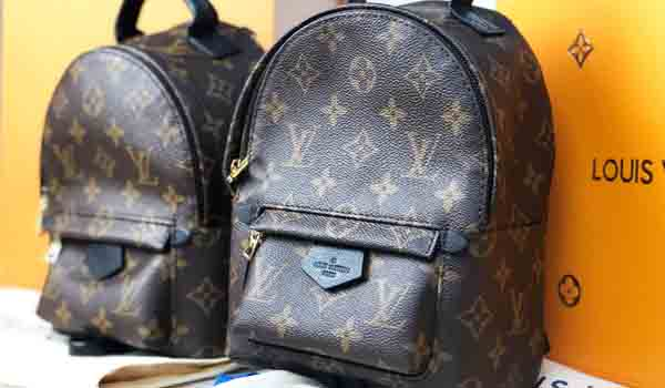 louis vuitton lv palm springs mini fake vs real backpack side by side comparison