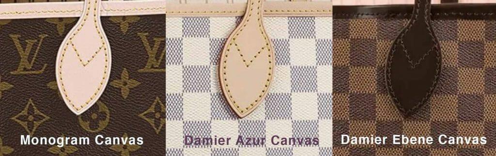 Louis-Vuitton-Canvas-Types-and-Leather-Monogram-Damier-Azur-Ebene-Comparison