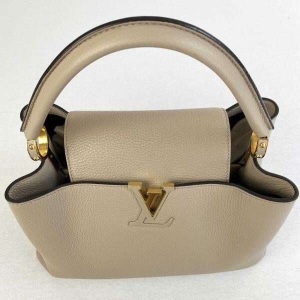 Louis vuitton Capucines MM Galet and Gold hardware Bag handbagholic uk