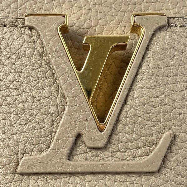 Louis vuitton Capucines MM Galet and Gold hardware Bag handbagholic uk XL Logo