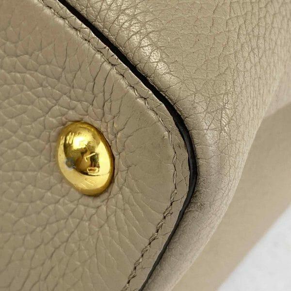 Louis vuitton Capucines MM Galet and Gold hardware Bag handbagholic uk corner 1