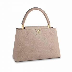 Louis vuitton Capucines MM Galet and Gold hardware Bag handbagholic uk main image