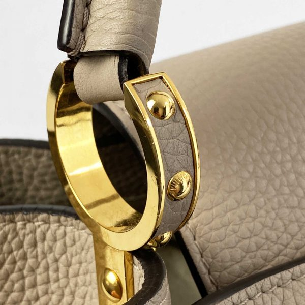 Louis vuitton Capucines MM Galet and Gold hardware Bag handbagholic uk ring