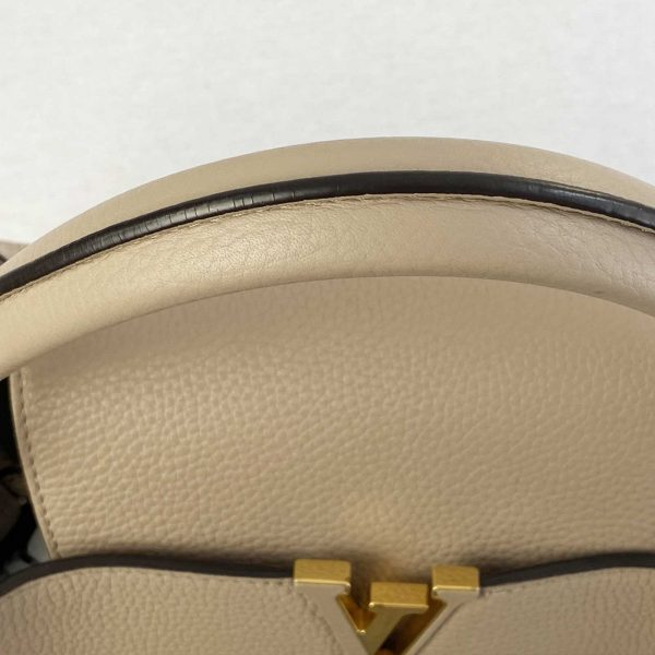 Louis vuitton Capucines MM Galet and Gold hardware Bag handbagholic uk top handle glazing