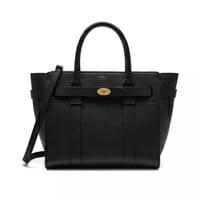 Mulberry Black Zipped Bayswater designer bag for work handbag icon handbagholic 200x200px